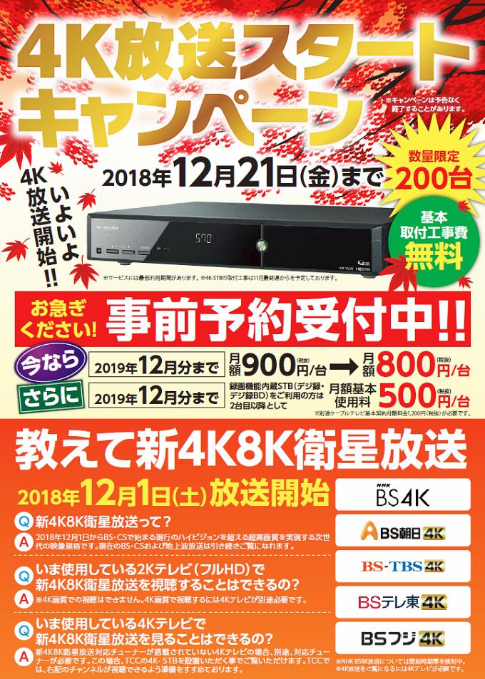 4K放送スタートキャンペーン